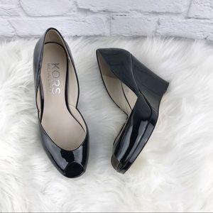 Kors Michael Kors Patent Wedges Shoes ♥️